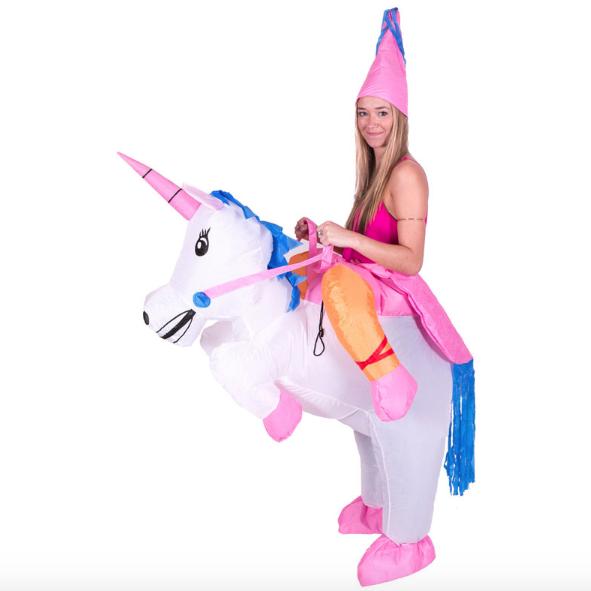 Opblaasbaar Unicorn pak
