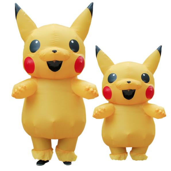 opblaasbare pikachu mascotte