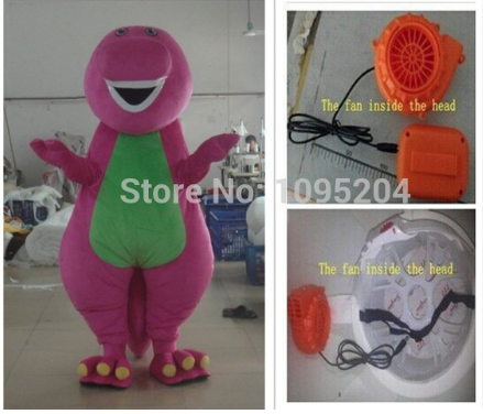 Barney Mascotte Kostuum 1