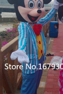 Mickey Mouse Blauw Pak Mascotte Kostuum