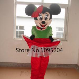 Minnie Mouse Kerst Mascotte Kostuum