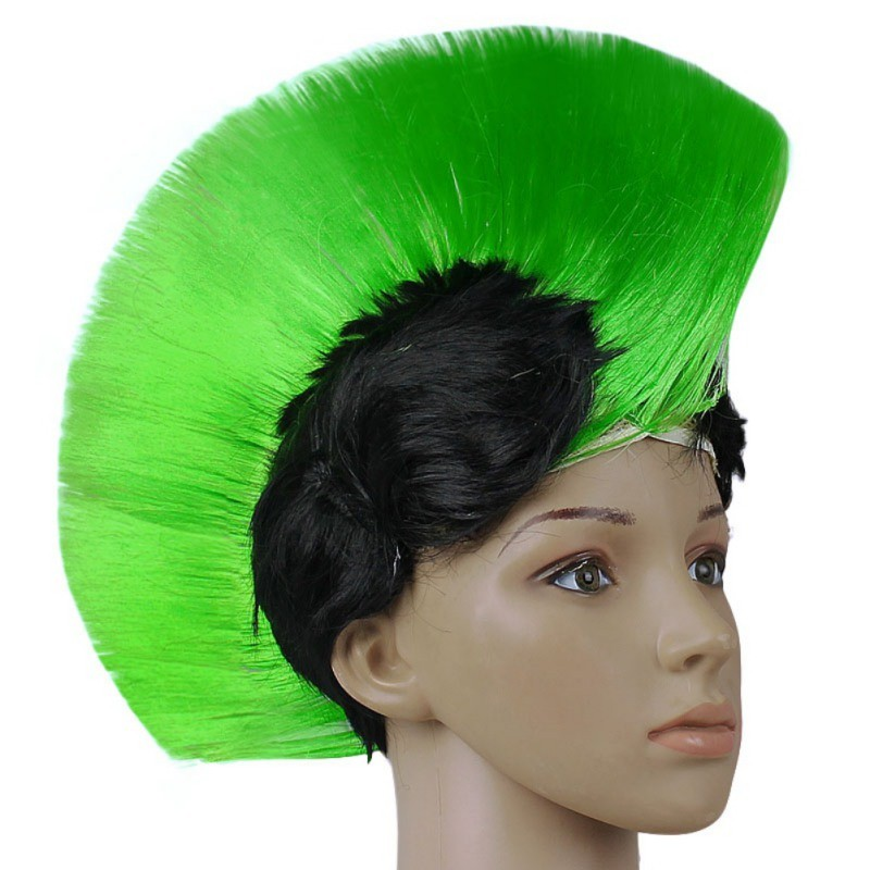 hanekam pruik groen zwart
