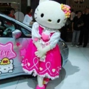 Hello Kitty Jurk Mascotte Kostuum